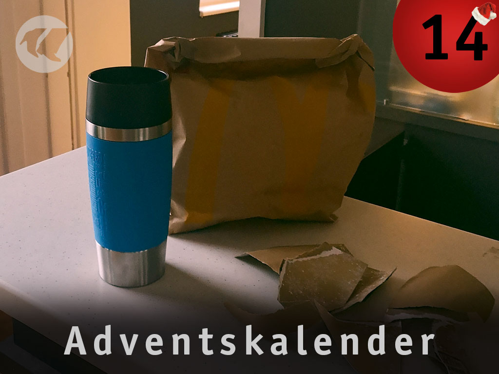 14. Advent: Thermobecher und Tüte