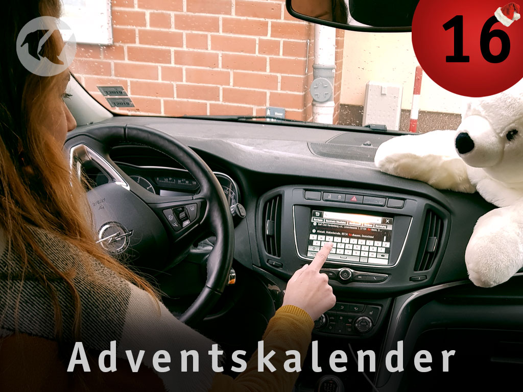 16. Advent: Celien im Auto