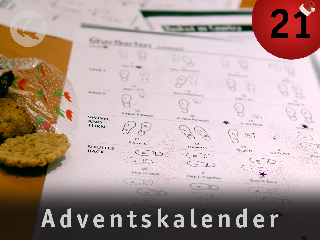21. Advent: papier mit glitzer